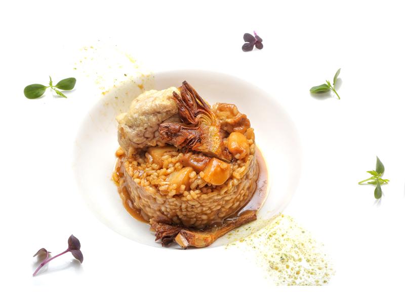 arroz de hongos con trufa restaurante palomeque